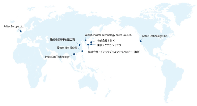 国内・海外の拠点(地図)